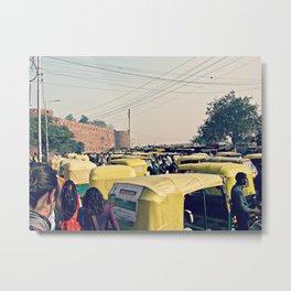 India Streets. Rickshaw II Metal Print
