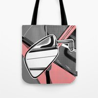 audi Tote Bags featuring Rearview Mirror by Paco Dozier