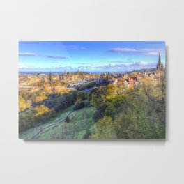 Edinburgh City Panorama Metal Print
