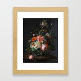 Still Life with Flowers on a Marble Tabletop Rachel Ruysch, 1716 Framed Art Print