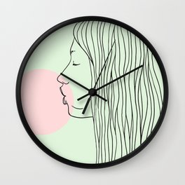 Pink bubblegum Wall Clock