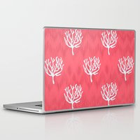 coral Laptop & iPad Skins featuring Coral by Marta Li