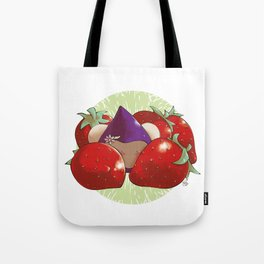 Poppette and strawberries Tote Bag