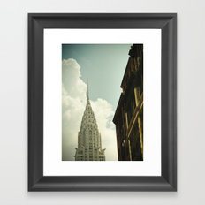 The city of the fighting styles Framed Art Print