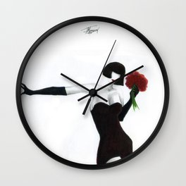 The Seductress by J Namerow Wall Clock