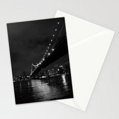 Manhattan Night Black & White Stationery Cards