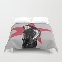 derek hale Duvet Covers featuring Winter S. Derek  by Finduilas