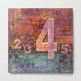 Journey by Number: 4 Metal Print