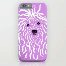 Puli (Violet and White) iPhone Case