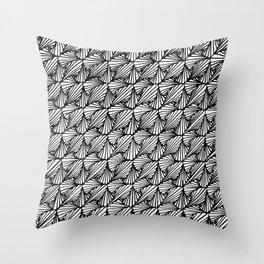 Zentangle Paradox  Throw Pillow
