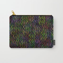 From the Pomp Pomp collection-Multi-coloured swirly curlies Carry-All Pouch