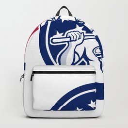 American Drainlayer USA Flag Icon Backpack