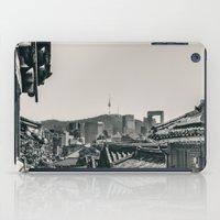seoul iPad Cases featuring Seoul Cityscape by Jennifer Stinson