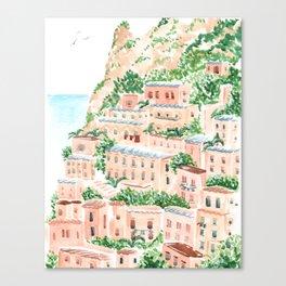 An Italian Shore Canvas Print