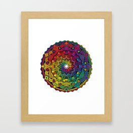 Time Dilation - Psychedelic Mandala Rainbow series Framed Art Print
