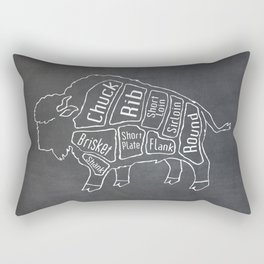 Buffalo Butcher Diagram (Meat Chart) Rectangular Pillow
