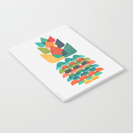 Colorful Whimsical Ananas Notebook