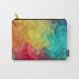 Abstract Color Wave Flash Carry-All Pouch