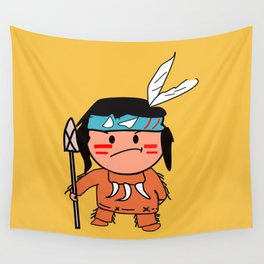 Little Red Indian Wall Tapestry
