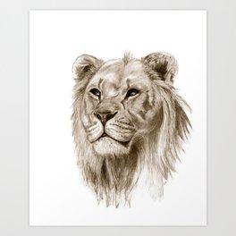 A Lion :: Without Pride Art Print