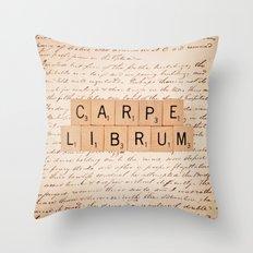 Carpe Librum [seize the book] Throw Pillow