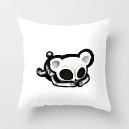 Skeleton bear Throw Pillow
