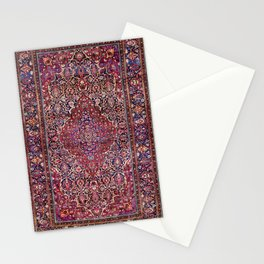 Kashan Central Persian Silk Rug Print Stationery Cards