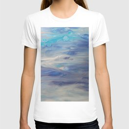 Ethereal Skies - Abstract Acrylic Art by Fluid Nature T-shirt