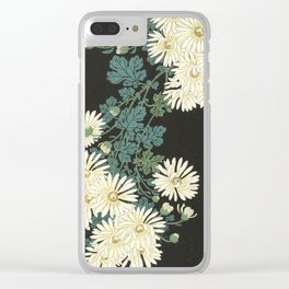 Chrysanthemums and Running Water Clear iPhone Case
