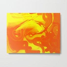 Orange Inside Yellow Metal Print