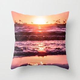 Mission Bay Shoreline in San Diego, California Throw Pillow