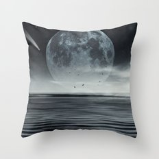 oceans of tranquility Throw Pillow