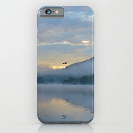 Dreamy Morning: Serene Shades of Blue iPhone Case