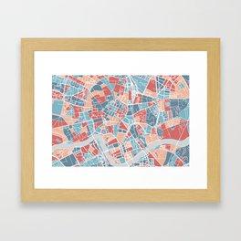 Krakow map Framed Art Print