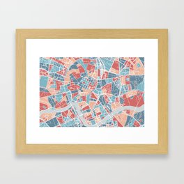 Krakow map Framed Art Print