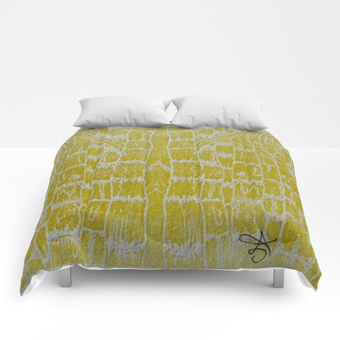 Yellow Sugarcane Comforters