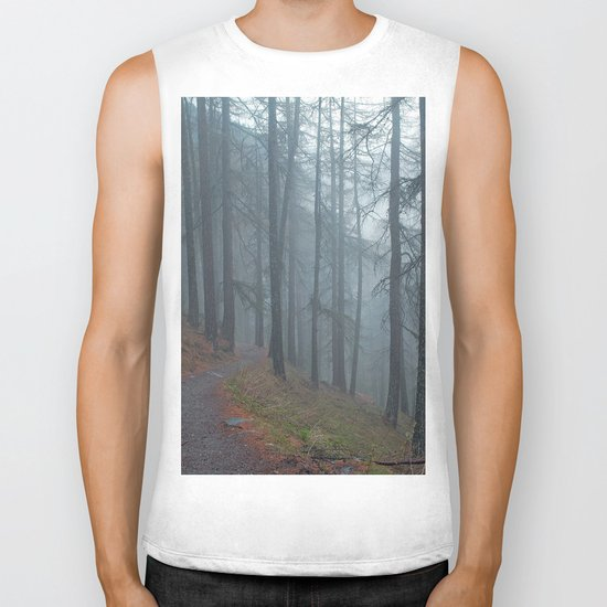 Forest vibes #foggy Biker Tank