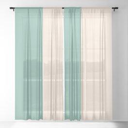 Color Block Abstract XVIII Sheer Curtain