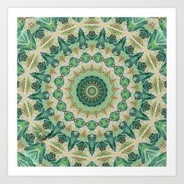 Luna Moth Kaleidoscope Art Print