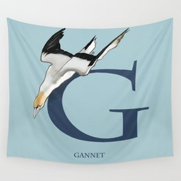 G is for Gannet: Under Appreciated Animals™, ABC nursery kids room decor blue unusual animals Wall Tapestry