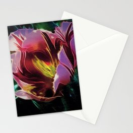 Tulip, First Morning Light still life portrait painting Stationery Cards