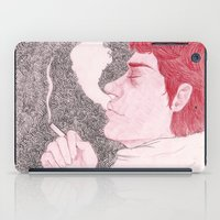 cigarette iPad Cases featuring winter cigarette by laura k. white