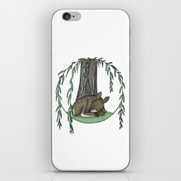 Naptime Under the Willow iPhone Skin