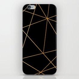 Geometric black gold iPhone Skin