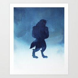 Beast Silhouette - Beauty and the Beast Art Print