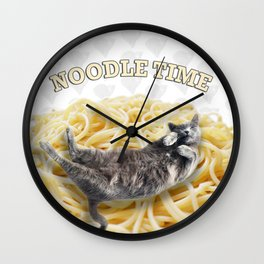 Noodle Time Wall Clock