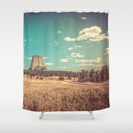 Devil's Tower National Monument Wyoming Shower Curtain