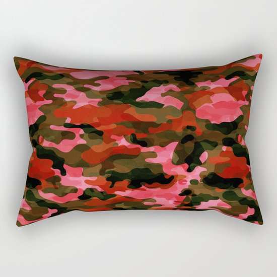 Camouflage (Red) Rectangular Pillow