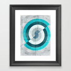 Blue Chaos Framed Art Print