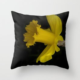 blossoms on black background -03- Throw Pillow